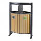 Wood Effect Dual Litter & Recycling Bin - 78 Litre