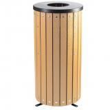 Open Top Wood Effect Waste Bin - 40 Litre