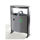 Steel Dual Litter & Recycling Bin - 78 Litre