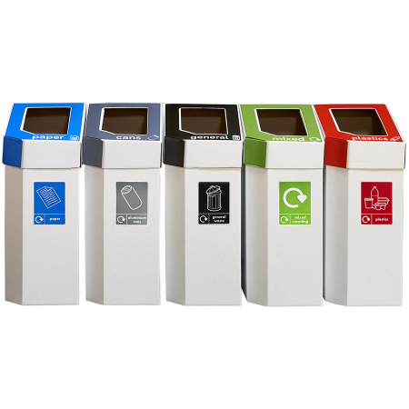 MyBin Create Cardboard Recycling Bins 60 Litres - Pack of 5