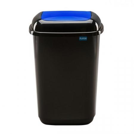 Plastic Push Lid Litter Bin - 12 Litre