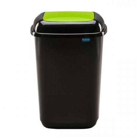 Plastic Push Lid Litter Bin - 45 Litre