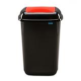 Plastic Push Lid Litter Bin - 28 Litre