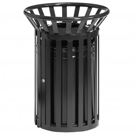 Circular Steel Open Top Litter Bin - 40 Litre