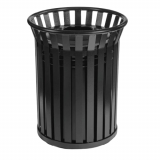 Circular Steel Open Top Litter Bin - 69 Litre