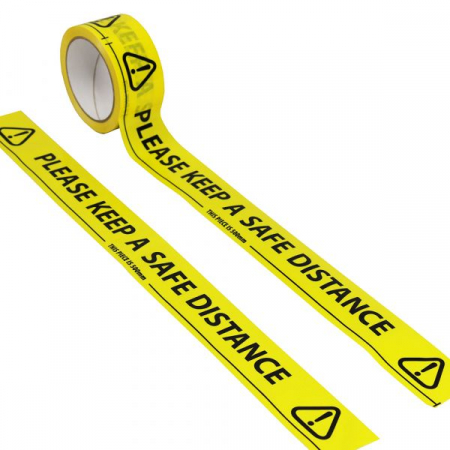 Social Distancing Floor Marking Tape - 33m x 48mm Wide