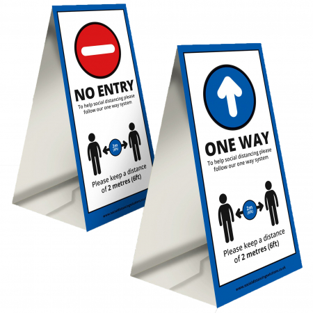 Double-Sided Directional A Board - Office & Premises
