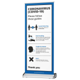 Infection Control Standing Banner - Office & Premises