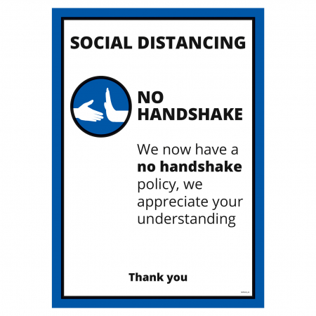 No Handshake A2 Poster - Office & Premises - Multipack