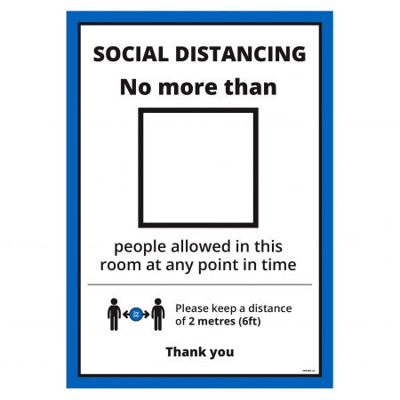 Room Restriction A3 Poster - Office & Premises - Multipack