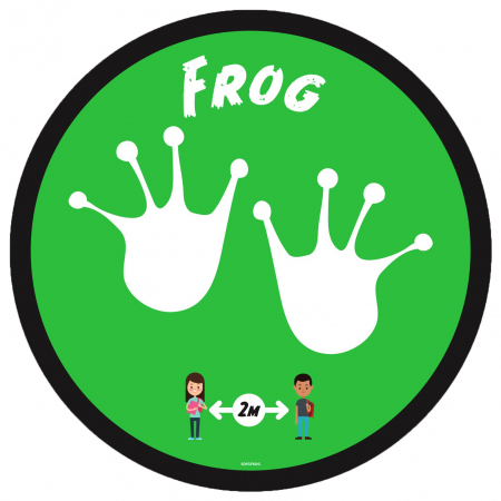 Social Distancing Floor Graphic - Frog - 280mm - Multipack