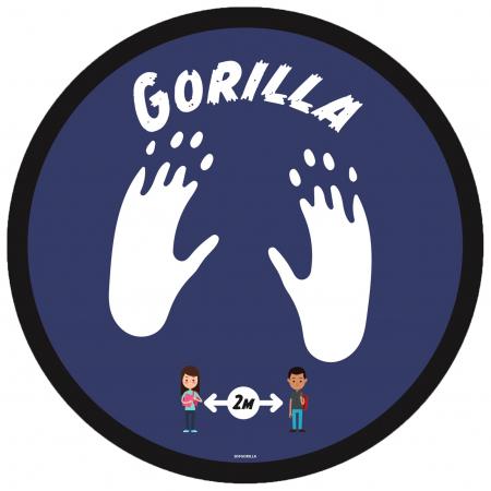 Social Distancing Floor Graphic - Gorilla - 280mm - Multipack