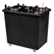 Recycled Black Wheeled Bottle Bin - 135 Litre