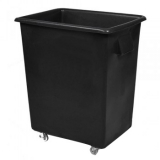 Recycled Black Wheeled Bottle Bin - 150 Litre