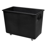 Recycled Black Wheeled Bottle Bin - 165 Litre