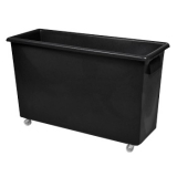 Recycled Black Wheeled Slimline Bottle Bin - 165 Litre
