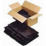 360 Litre High Grade Recycled Wheeled Black Bin Liners - 100 Liners
