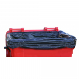 Heavy Duty 1100 Litre Black Wheeled Bin Liner - 50 Liners Per Box