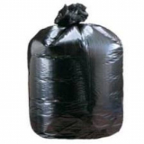 "Medium Duty Black Compactor Sacks 22"" x 33"" x 47""- 100 Liners Per Box"