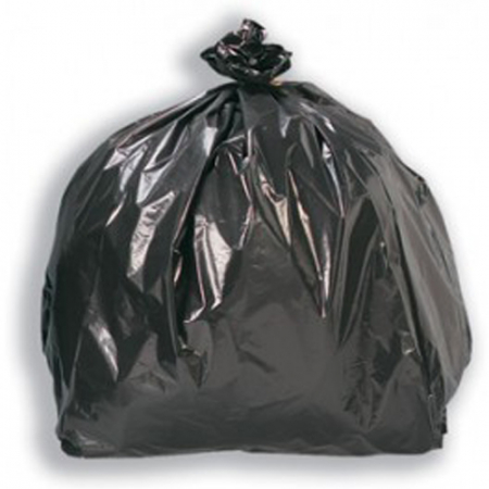 "Medium Duty Black Refuse Sacks 18"" x 29"" x 39""- 200 Liners Per Box"
