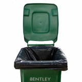 240 Litre Black Recycled Degradable Wheelie Bin Liners - 52 Liners Per Box
