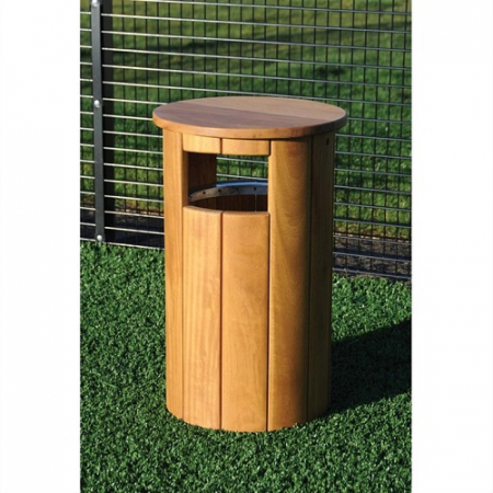 Winchester Canopied Timber Litter Bin - 90 Litre Capacity