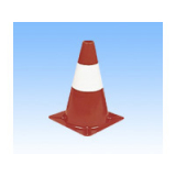 300mm Red With White Band Lightweight Cone