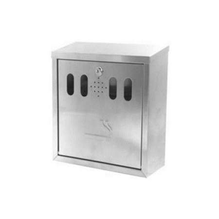 Stainless Steel Wall Mounted Cigarette Bin