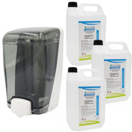 Bulk Fill Sanitiser & Liquid Soap Dispenser - 1000ml Capacity with Hand Rub Pack