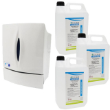 Push-Button Sanitiser & Liquid Soap Dispenser - 800ml Capacity with Hand Rub Pack