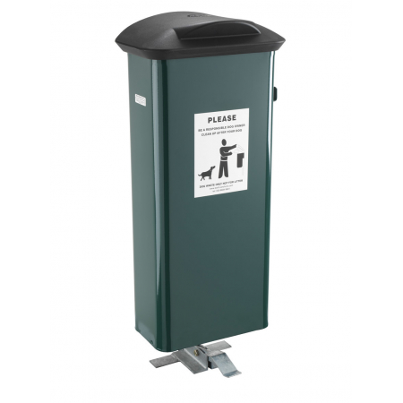 Pedal Operated Dog Waste Bin - 66 Litre
