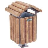 Rustic Park Litter Bin - 90 Litre Capacity