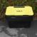 Black 3.5 Cu Ft Grit Bin with Yellow Lid - 115 Litre / 130 kg Capacity