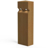 Stratton Double LED Lighting Larch Timber Bollard
