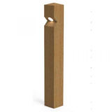 Stratton Single LED Lighting Oak Bollard