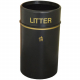 Eco Recycled Open Top Litter Bin - 90 Litre