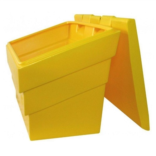 OUTDOOR USE IDEAL FOR CLEARING DRIVE WAYS AND PATHS GRIT /& SCOOP 50L GRIT BIN