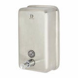 Stainless Steel Vertical Soap and Hand Sanitiser Dispenser - 1200ml Capacity