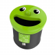 Novelty Smiley Face Recycling Bin - 40 Litre