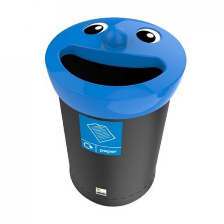 Novelty Smiley Face Recycling Bin - 62 Litre