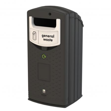 Envirobank Recycling Bin with Open Aperture - 140 Litre