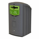Envirobank Recycling Bin with Propellor Aperture - 240 Litre