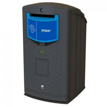 Envirobank Recycling Bin with Slot Aperture - 240 Litre