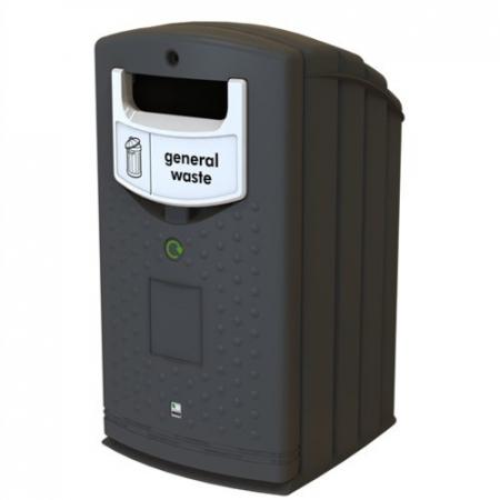 Envirobank Recycling Bin with Open Aperture - 240 Litre