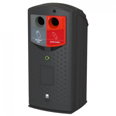 Envirobank Split Dual Compartment Recycling Bin - 180 Litre