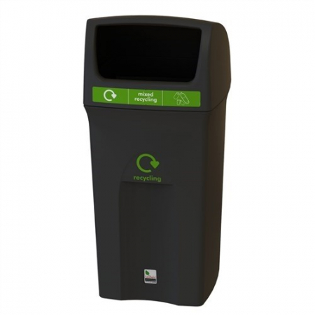 Envirobin Recycling Bin with Hooded Lid - 100 Litre