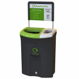 Meridian Recycling Bin with Twin Open Apertures - 110 Litre