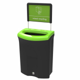 Meridian Open Top Recycling Bin - 110 Litre