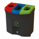 Mini Meridian Recycling Bin with Triple Apertures - 87 Litre