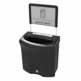 Mini Meridian Open Top Recycling Bin - 87 Litre
